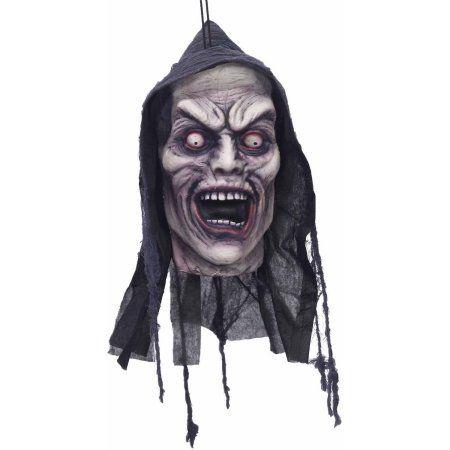 Screamer Poly Foam Head Halloween Decoration, Gray Walmart and - halloween decorations at walmart