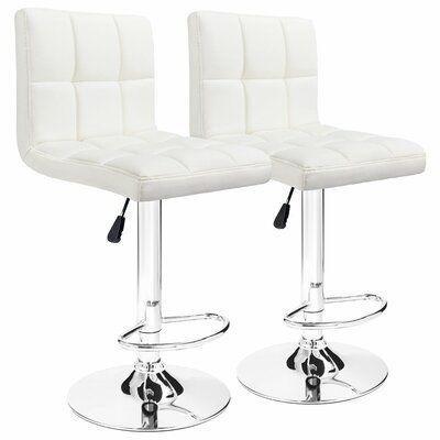Incredible Orren Ellis Renea Adjustable Height 33 Swivel Bar Stool Ibusinesslaw Wood Chair Design Ideas Ibusinesslaworg