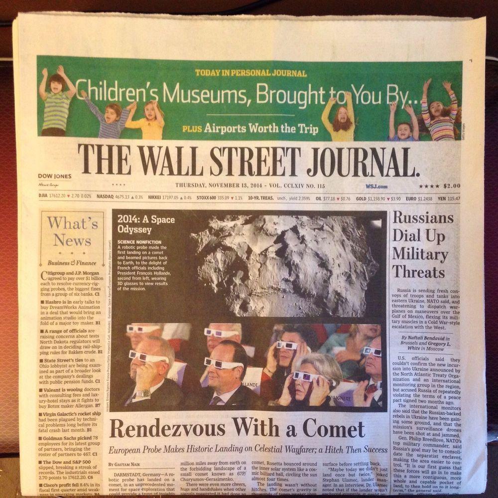 wsj wall street journal newspaper thursday november 13 on wallstreetjournal id=45417