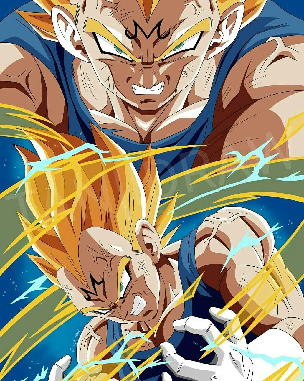 Majin Vegeta Taniidraw Anime Dragon Ball Dragon Ball Dragon Ball Art