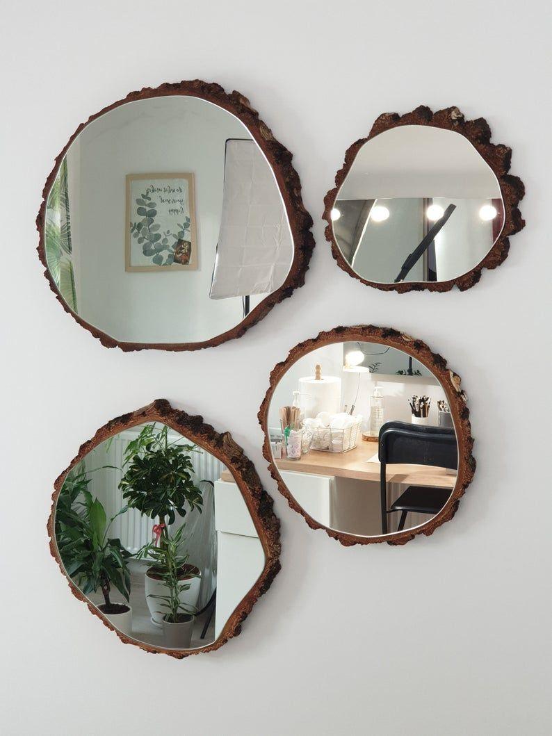 Wall Mirror, Wood Mirror, Bathroom Mirror, Rustic Mirror, Round Mirror, Wooden Wall Mirror, Wall Decor, Rustic Mirror, Decorative mirror