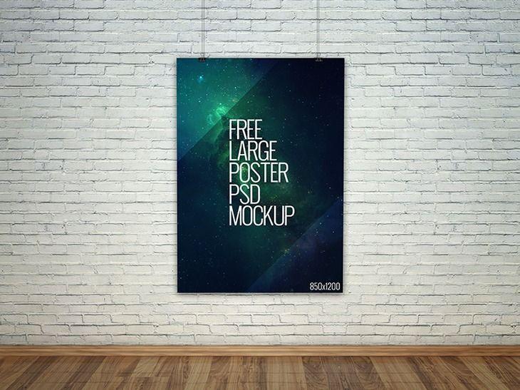 100 Free High Resolution Photorealistic Mockups Poster Mockup Free Poster Mockup Mockup Free Psd