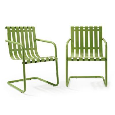 Crosley Gracie Indoor Outdoor Chairs In Green Set Of 2