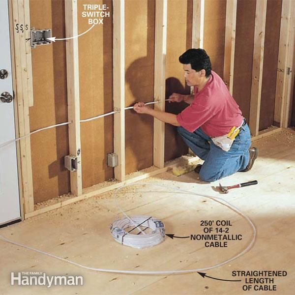 How to Rough-In Electrical Wiring | Cable, The family handyman and ...