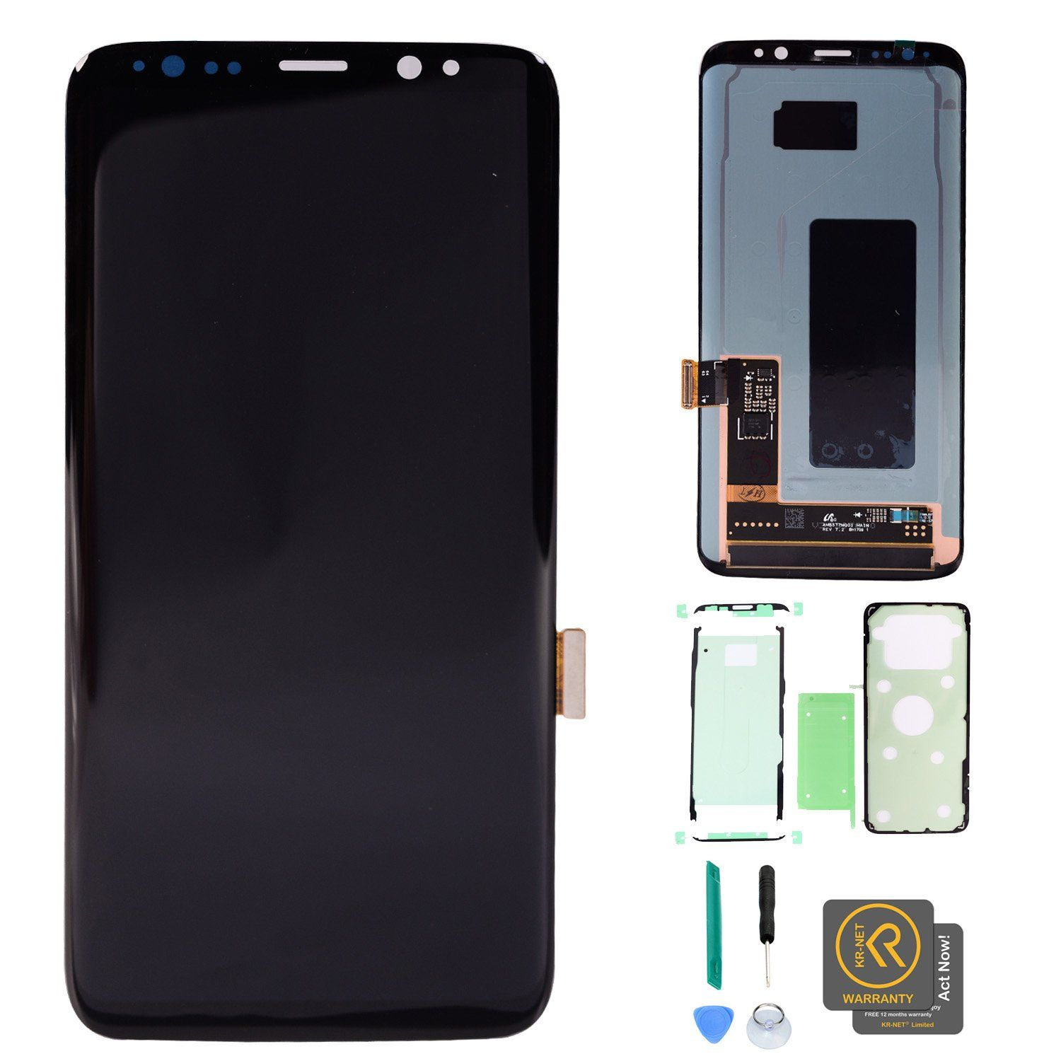 Kr Net Amoled Lcd Display Touch Screen Digitizer Assembly Samsung Galaxy Grand Neo Plus Oem Replacement Full Set Precut Adhesive For S8 G950f G950a G950p G950v G950t G950r4