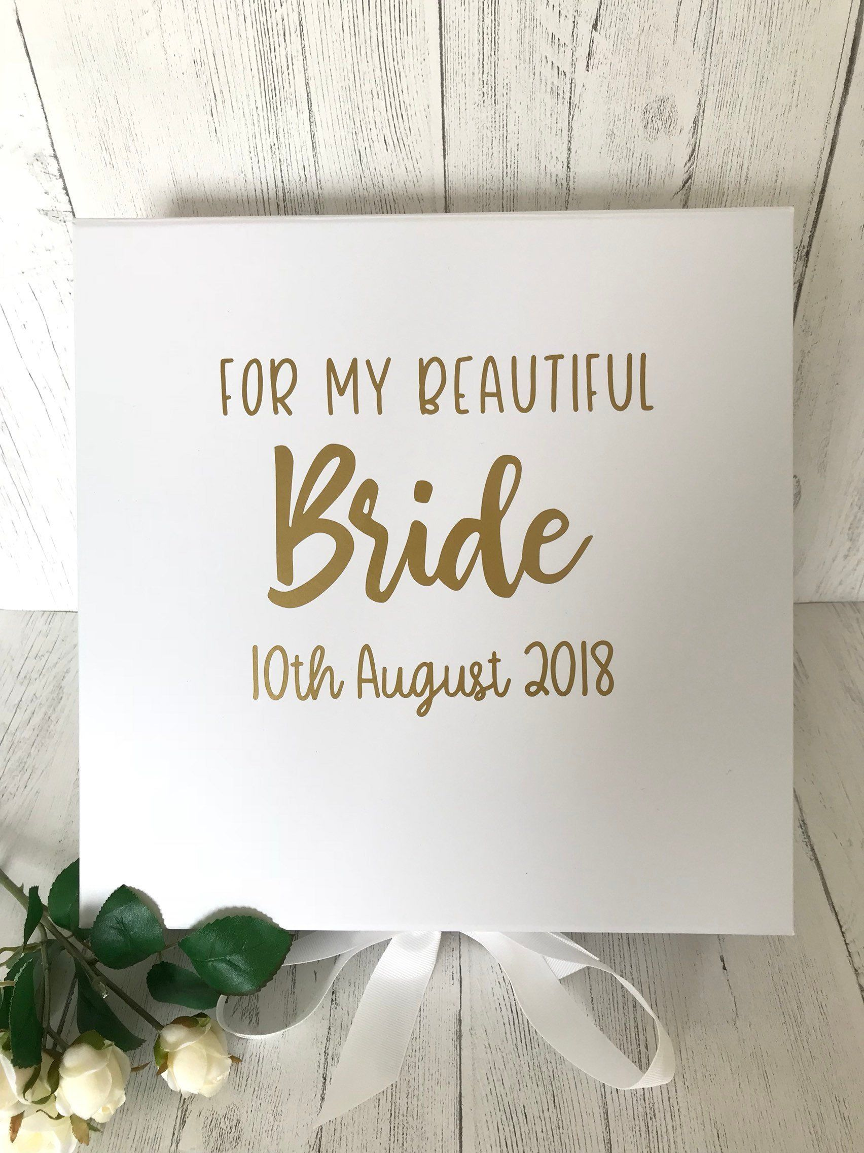 Bride S Box Wedding Day Gift For Bride From Groom Gift Box For Bride Personalised Gift Personalised Box Wedding Morning Gift Personalized Wedding Gifts Wedding Day Gifts Bride Gifts