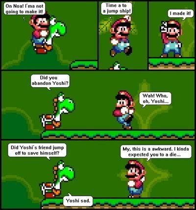 Poor Yoshi.