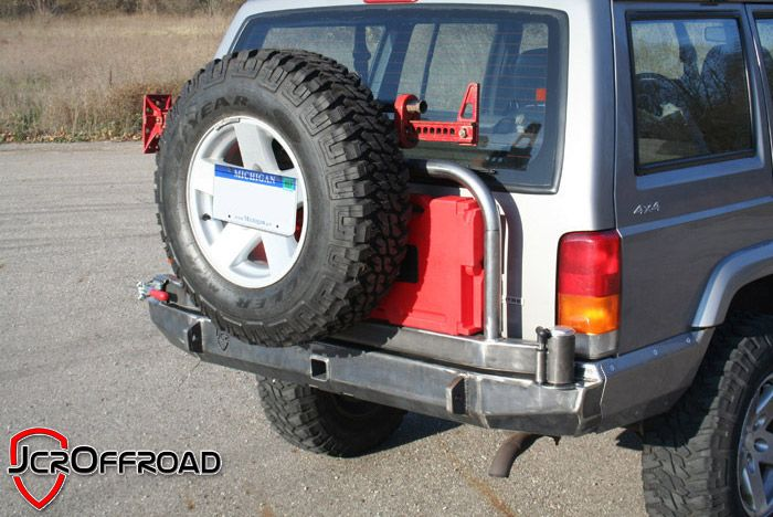 Jcroffroad Inc Jeep Cherokee Xj Rear Tire Carrier Bumper