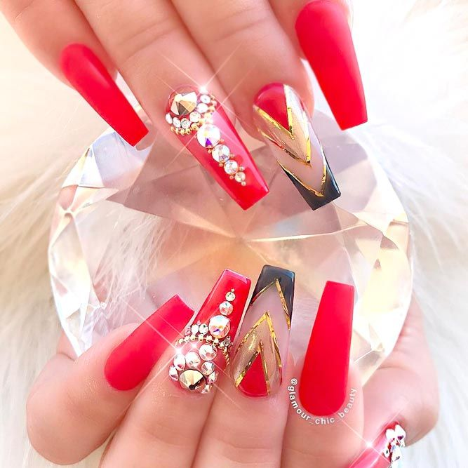 Stylish Red Nail Designs See More Https Naildesignsjournal