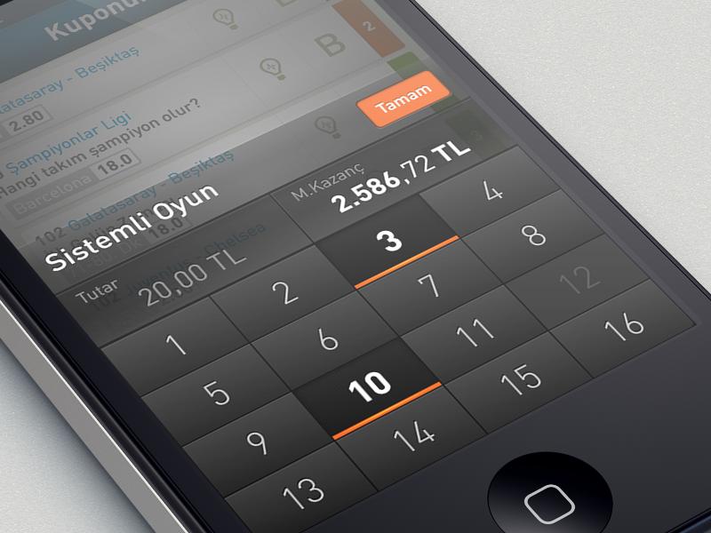 custom numeric keyboard Iphone design, Web development