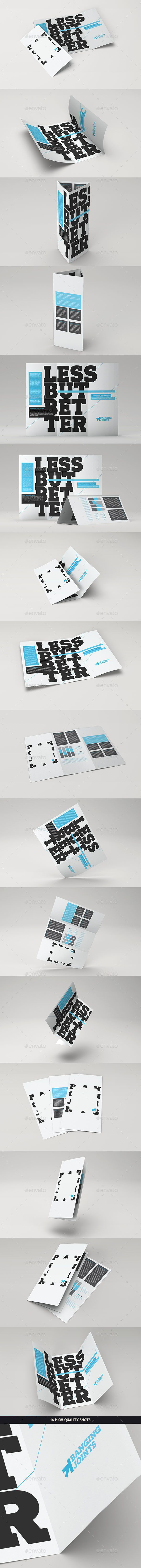 Trifold Brochure Mock-Up Pack | psd keys | Brochure design