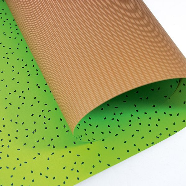 Kiwi wrapping paper made of recycled paper