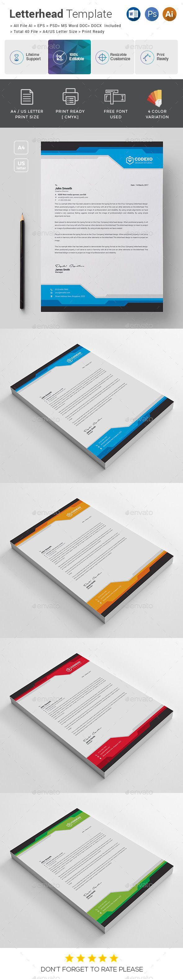 Letterhead Samples Word Letterhead Template  #stationery Print Templates  Letterhead .