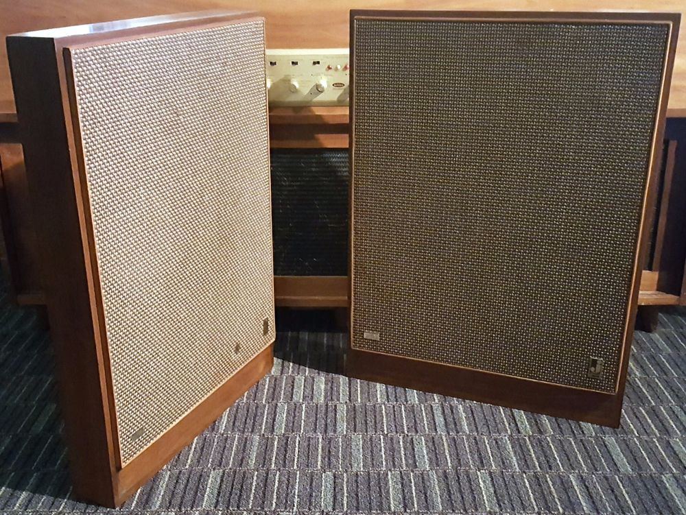 1962 Jensen Super Slim 5 Driver Flat Panel Wall Speakers Sonorisation
