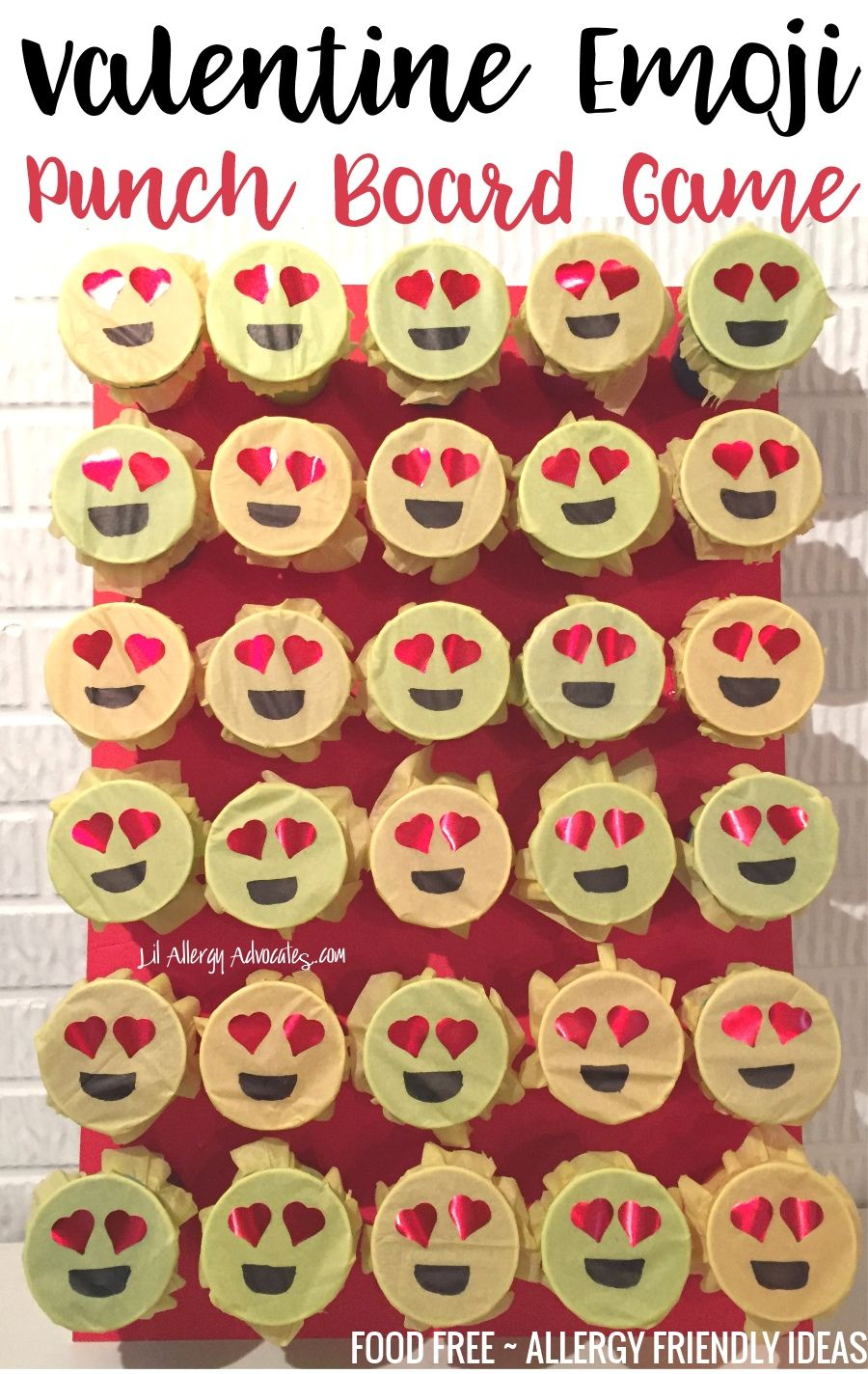 Instructions for Emoji Valentine Game. FOOD FREE fun for