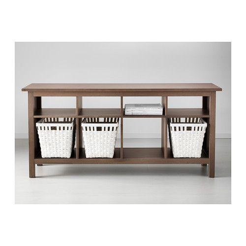 Hemnes Coffee Table White Stain 90x90 Cm: IKEA HEMNES Black-Brown Console Table