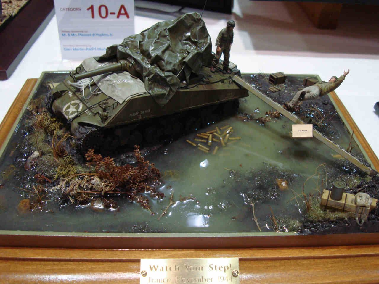 M4a1 sherman 1 35 scale model diorama modeling water for Scale model ideas