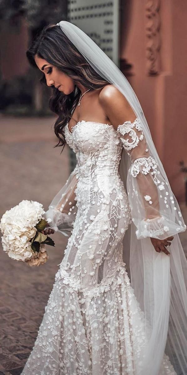 30 Stunning Long Sleeve Wedding Dresses For Brides #wedding