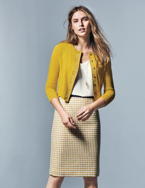 British Tweed Pencil Skirt – Pine Tree Herringbone | Boden US