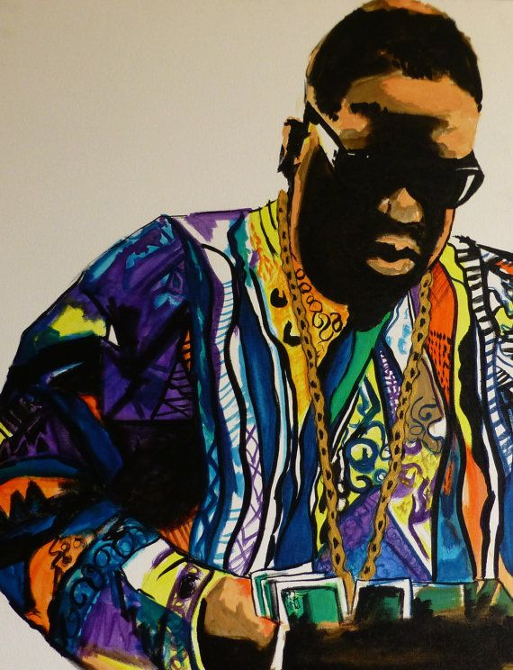 Notorious Big Biggie Smalls Coogi Sweater Acrylic By Haboobs