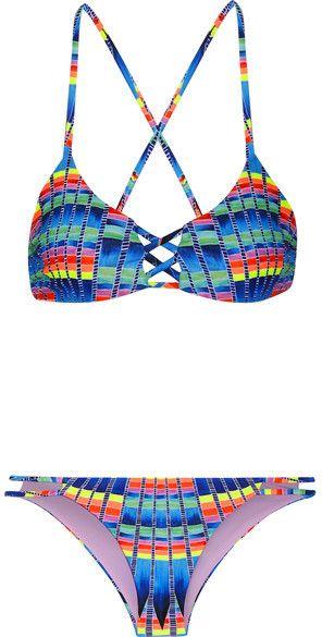 9111ef875 Mara Hoffman - Printed Bikini - Azure   Women Two Piece Swimsuits
