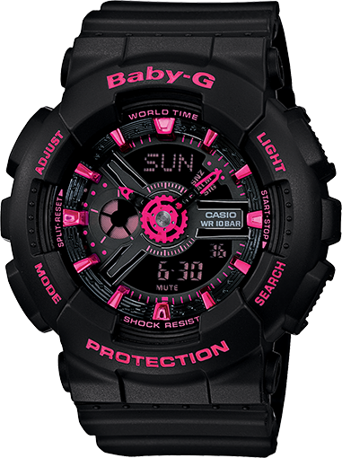 16eed1c422a8f BA111-1A - Baby-G Black - Womens Watches
