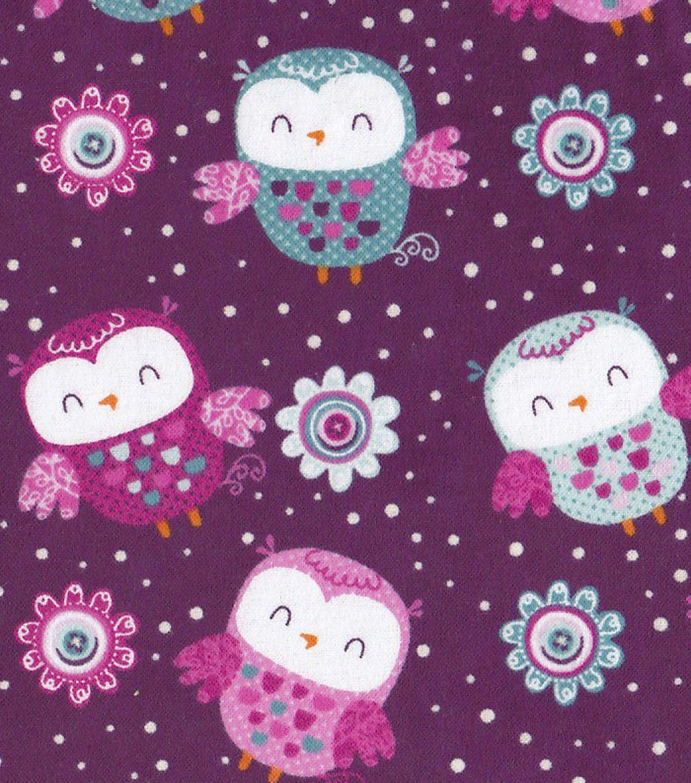 Jo-Ann Fabric Owl Fleece Fabric