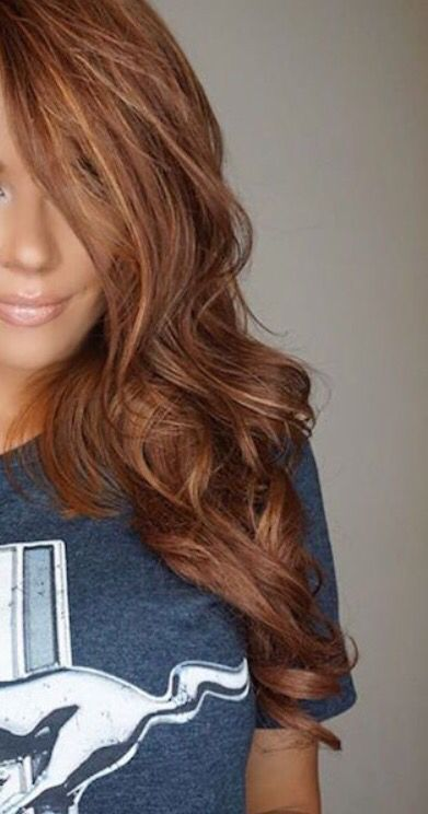Coloration automne 2019, cheveux roux caramel ombre hair