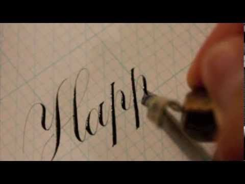Typography Fonts Copperplate Handwriting Happy Birthday