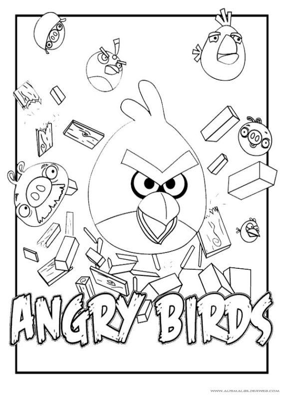 Pin Von Diy Und Selbermachen Auf Ausmalbilder Angry Bird Bird