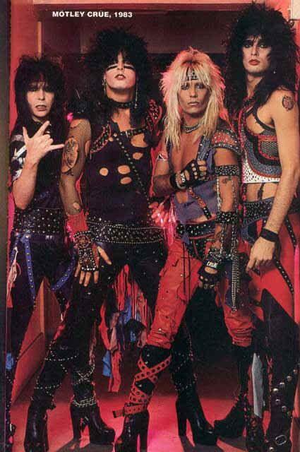 Groupe Hard Rock Année 80 : groupe, année, Motley, Crue,, Music,, Metal
