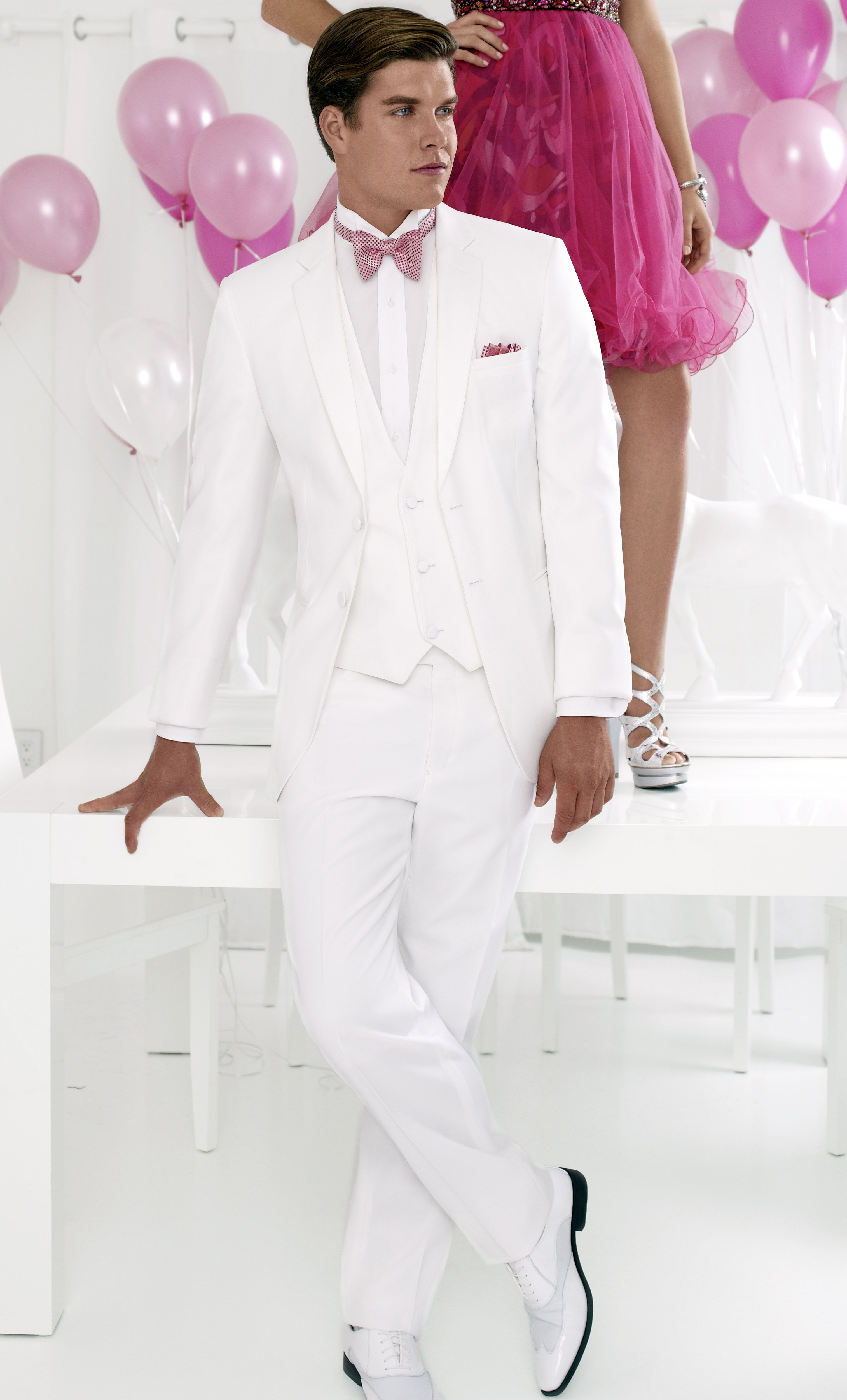 White Fitted Two Button Tuxedo | MILAN KROUZIL | Pinterest | Fancy ...
