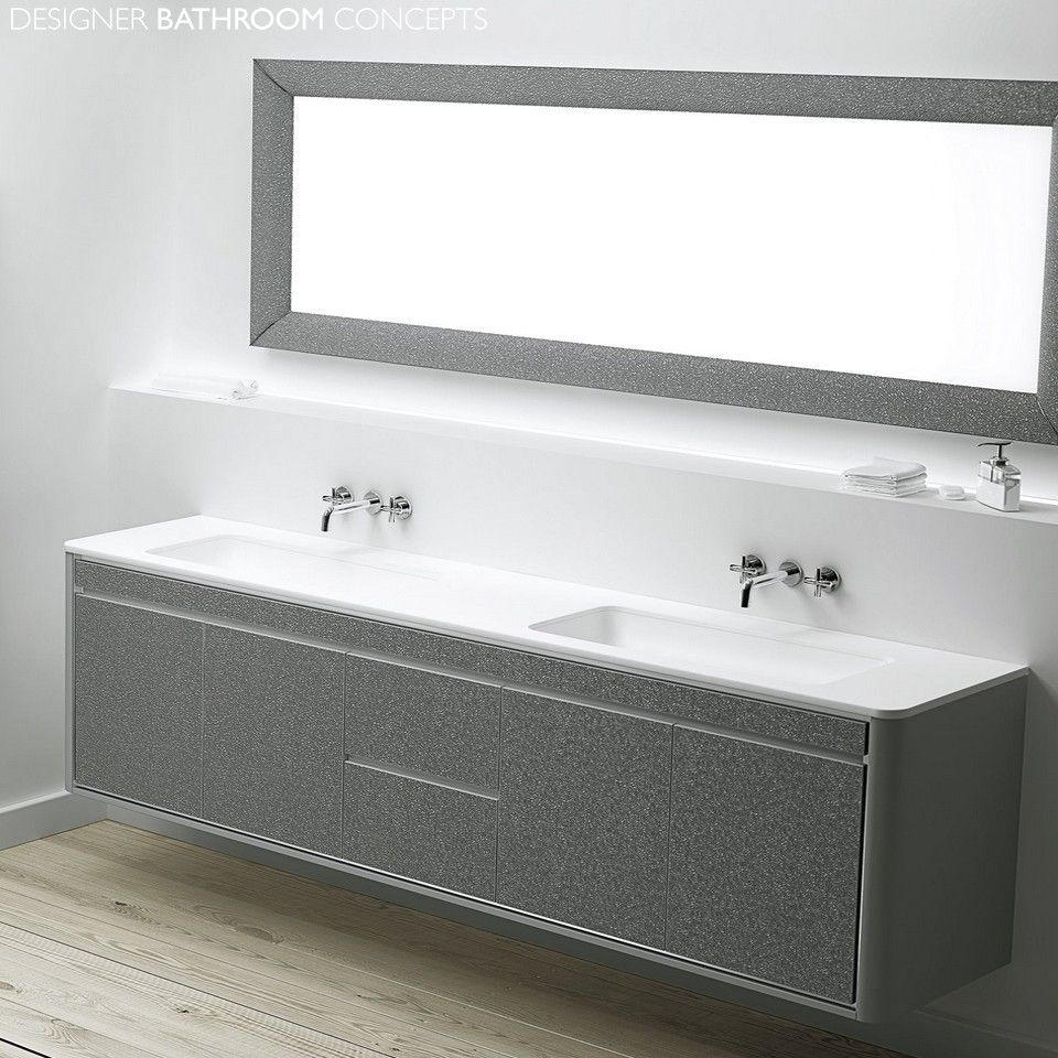 Fiora Intouch Designer Large Double Basin Vanity Unit 2000mm