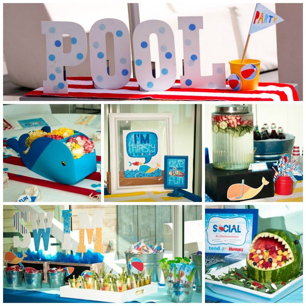 Pool Party Ideas Kids check out these pool party ideas Huggies Little Swimmers Pool Party Playdate