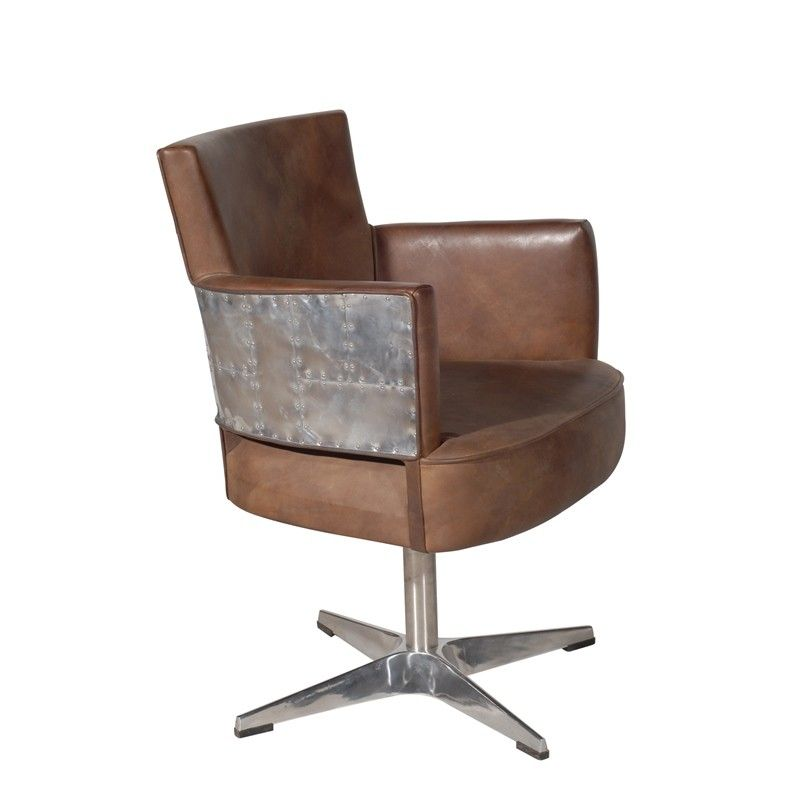 Swinderby Chair   Destroyed Raw Leather U0026 Spitfire | Timothy Oulton