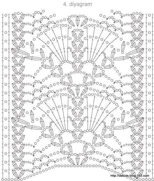 Crochet motif chart pattern stitch crochet pattern crochet entre 3 panels side by side for a table runner crochet diagram ccuart Images
