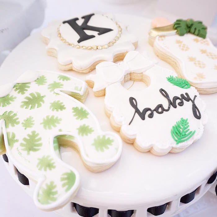 Modern Hawaiian Baby Shower | Karau0027s Party Ideas