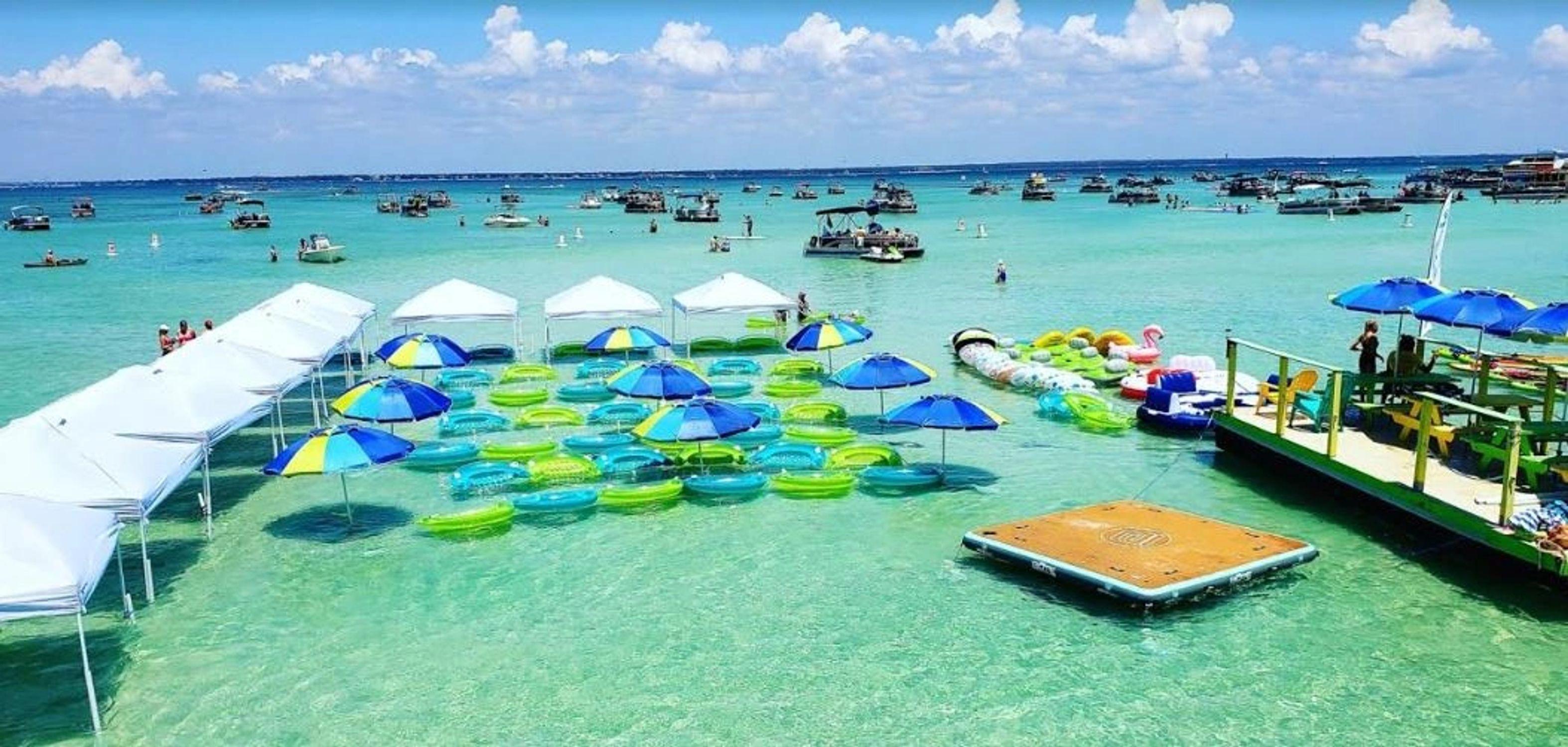 Crab Island Water Taxi 2019 Panama city beach vacation