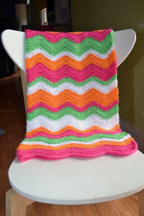 Baby Ripple Blankie/ Neat Ripple Pattern | Crochet | Pinterest ...