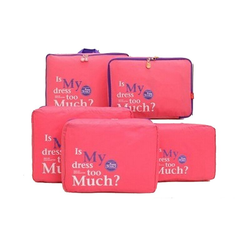 2a0d96351fa6 5pcs Set Waterproof Clothes Storage Bags Packing Cube Travel Luggage  Organizer Bag