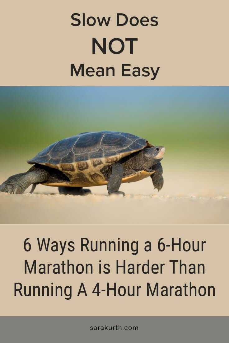 The pace may be slower, but there are a few reasons that running a slow marathon can be harder than doing a fast one. Read more on my blog.