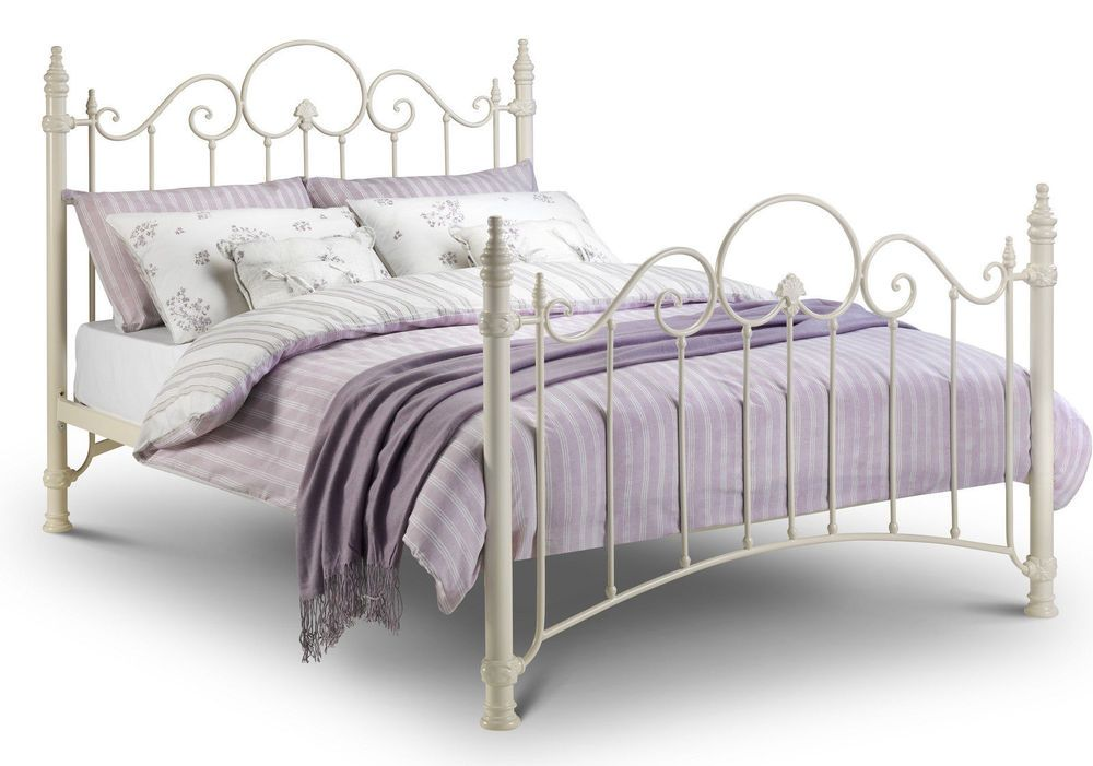 Cream Ivory Metal Bed Frame French Antique Vintage Style Single