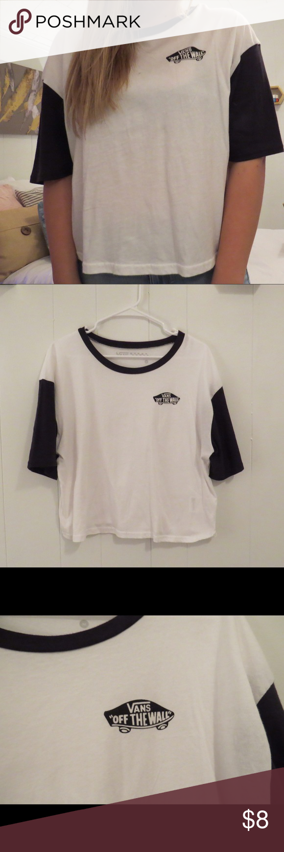 Vans oversized crop top! Vans oversized crop top, size medium, purchased at PacSun, never worn! 💗feel free to ask any questions! 💗open to offers! Vans Tops Crop Tops