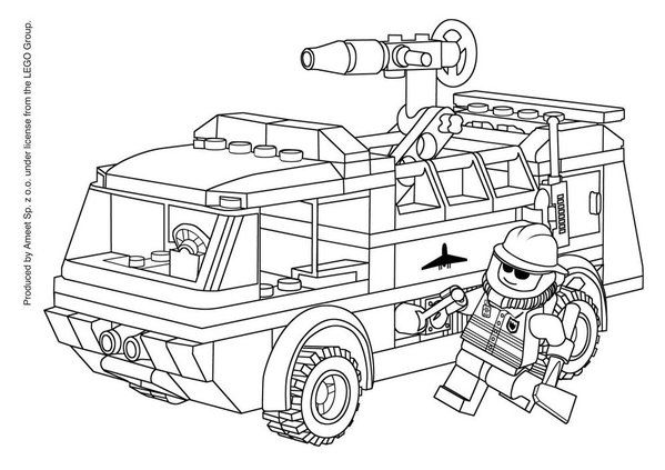 lego fire truck coloring pages pinterest lego fire