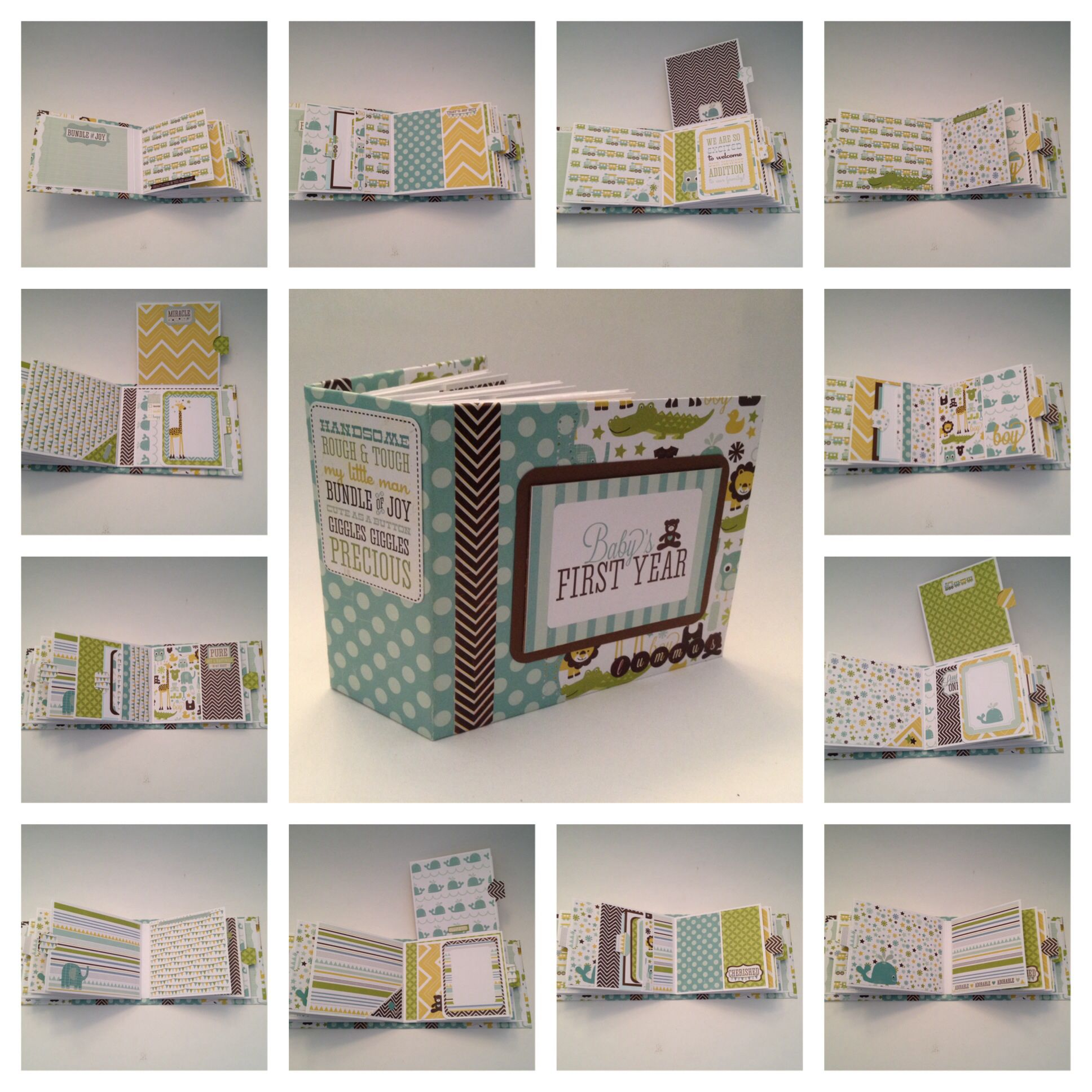 Scrapbook ideas mini books - Baby S First Year Mini Album Photos Only Pinned For The Idea Only