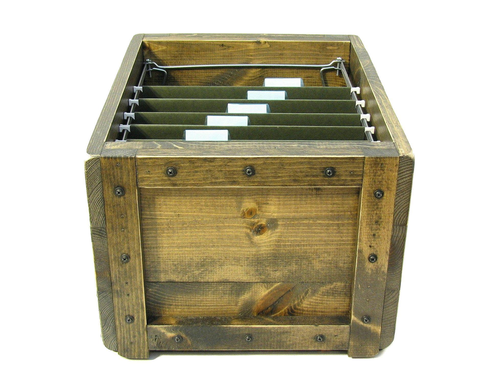Wooden Box For Files File Holder File Organizer Hanging File