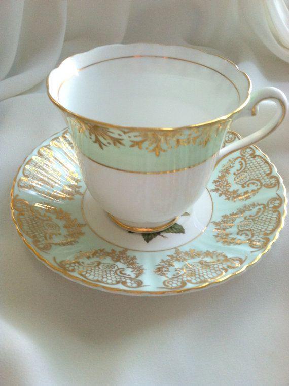 7ded86dbac3 Rosina/Paragon Fine Bone China Tea Cup & Saucer by MariasFarmhouse, $55.00