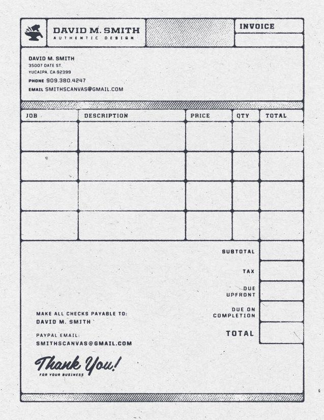 Invoice Design 50 Examples To Inspire You Invoice Estimate