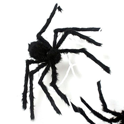 JINSEY 59 Inch 150CM Giant Huge Black Spider Decorations Halloween - large outdoor halloween decorations