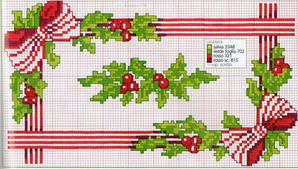 Centrotavola Natalizi A Punto Croce.Schemi Ricamo Punto Croce Natale Manifantasia Punto Croce Bordi A Punto Croce Ricamo Punto Croce